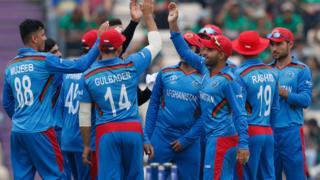 Afghanistan team celebrate