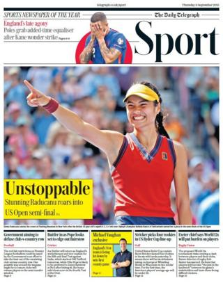 Telegraph back page