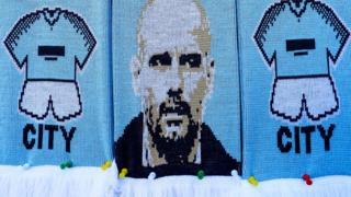 Pep Guardiola on a scarf