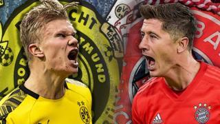 Dortmund and Bayern graphic