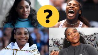 Four images of Serena Williams