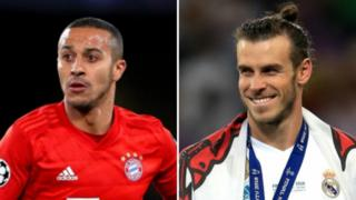 Split picture of Thiago Alcantara and Gareth Bale