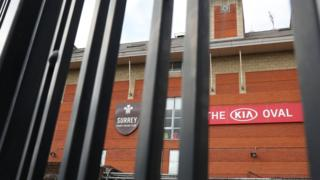 Closed gates at The Oval