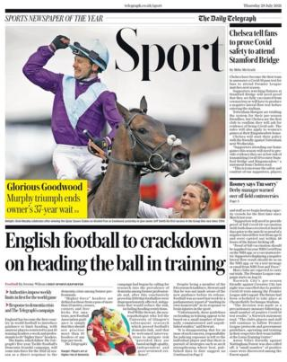 Thursday's Daily Telegraph