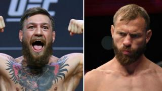 Split picture of Conor McGregor and 'Cowboy' Donald Cerrone
