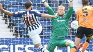 Charlie Austin scores for West Bromwich Albion