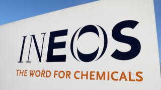 The logo of chemicals firm Ineos