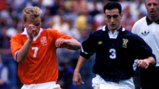 Dennis Bergkamp and Paul McStay