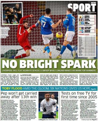 Thursday's back pages - 'No bright spark'