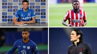 Ben Godfrey, Thomas Partey, Ruben Loftus-Cheek and Edinson Cavani