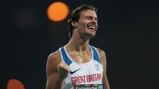 Paul Blake celebrates gold in the T36 800m at the World Para-Athletics Championships.