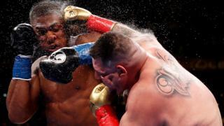 Andy Ruiz Jr punches Anthony Joshua