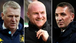 Dean Smith, Sean Dyche and Brendan Rodgers
