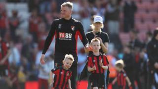 Eddie Howe and his children