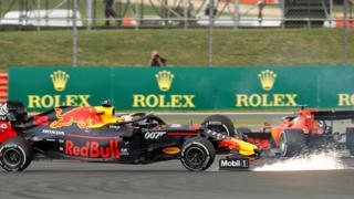 Verstappen and Vettel crash