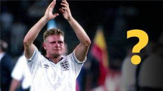 Paul Gascoigne claps England fans in Turin