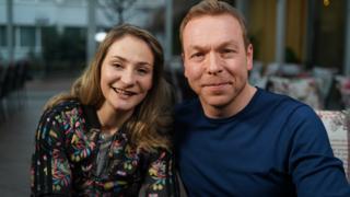Sir Chris Hoy and Kristina Vogel