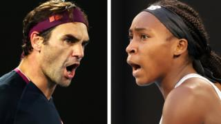 Roger Federer and Coco Gauff