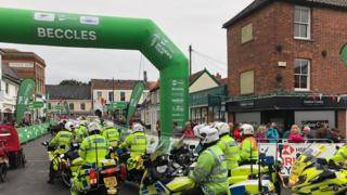 Women's Tour in Beccles