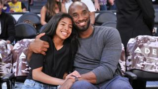 Kobe Bryant hugging his daughter Gianna