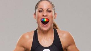 MMA fighter Liz Carmouche poses for the camera