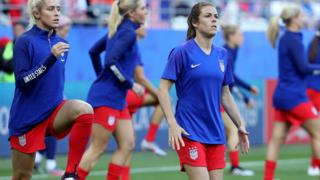 "Kelley O""hara of the USA warms up"