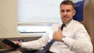 Aaron Ramsey travelling to Juventus match