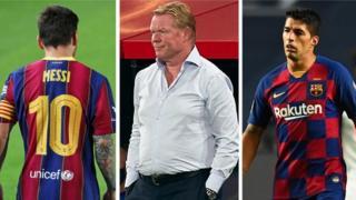 Messi, Koeman and Suarez