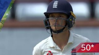 Jones reaches first Test 50 with a four