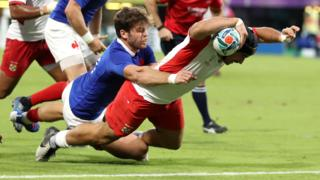 Hingano scores Tonga's second try