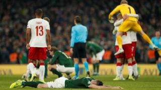 Republic of Ireland look dejected
