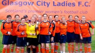 Glasgow City with their first trophy in 2007/08