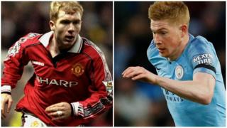 Paul Scholes and Kevin De Bruyne