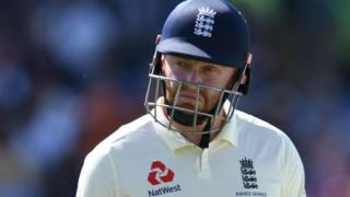 England batsman Jonny Bairstow walks off after being dismissed against Australia