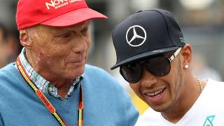 Lewis Hamilton and Niki Lauda