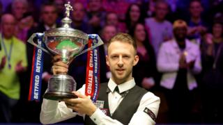 Judd Trump with the trophy