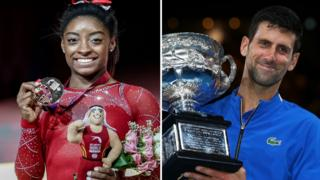 Simone Biles and Novak Djokovic