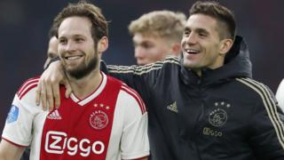 Daley Blind and Dusan Tadic