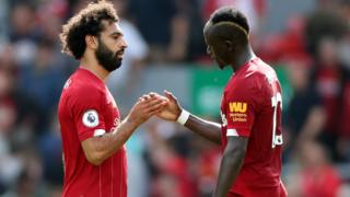 Liverpool's Sadio Mane and Mo Salah