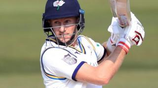 Joe Root batting for Yorkshire