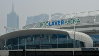 Smoke haze hangs over Melbourne and the Rod Laver Arena