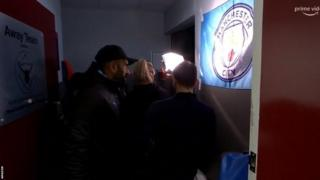 Manchester City played Burnley in the Premier League on Tuesday and the lights were broken in the dressing room