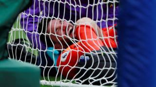 Tottenham keeper Hugo Lloris was injured during a 3-0 defeat at Brighton