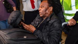 A wheelchair-bound Pele last year