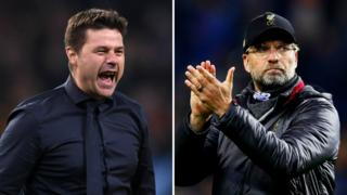 Tottenham manager Mauricio Pochettino (left) and Liverpool boss Jurgen Klopp