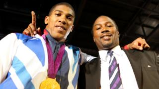 Lennox Lewis and Anthony Joshua