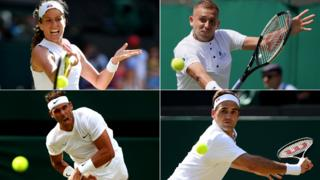 Konta, Evans, Nadal and Federer
