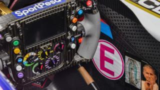 Racing Point steering wheel