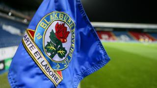 A corner flag at Blackburn's Ewood Park