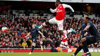 Eddie Nketiah scores for Arsenal